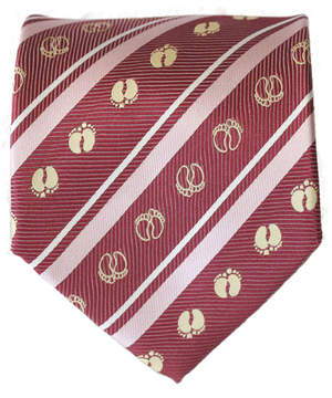 lovely foot print silk tie