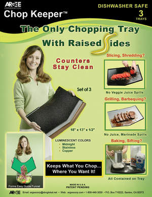 Chop Keeper Set of 3 Trays