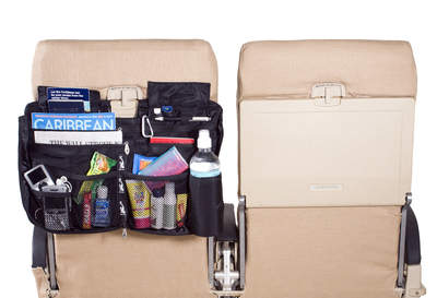 The versatile Nirvana Seatback Organizer keeps all your travel gear at your fingertips throughout the journey.