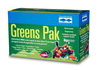 Greens Pak carries an antioxidant ORAC score equal to more than 15 servings of organic fruits & vegetables in every packet!