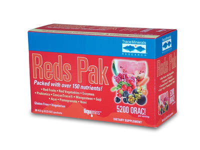 Reds Pak is gluten free, vegetarian, and loaded with over 150 nutrients!