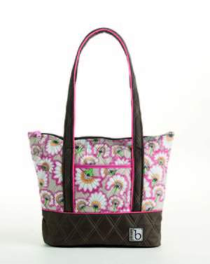 cinda b Zippered Tote in Bella Fiore Cocoa