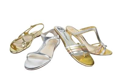Metallic Gladiators and Sandals – originally $295, at sale $89