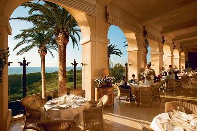 Moms will enjoy ocean-view dining on the beautiful terrace of Andrea at The Resort at Pelican Hill