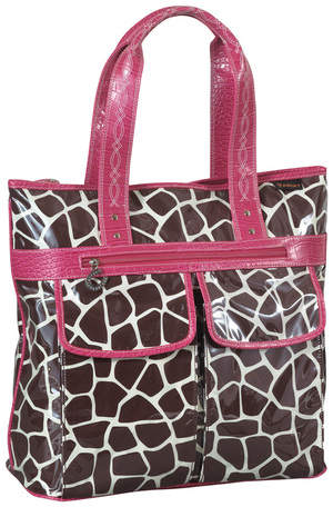 Ariat Gorgeous Giraffe Tote Bag in Giraffe Print/Pink