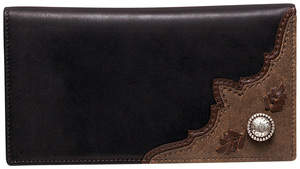 Ariat Rodeo Wallet in Black/Chocolate/Brown Bomber