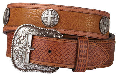 Ariat San Antonio Belt in Aztec Shoulder/Antique Tan