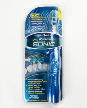 The new SONIC SpinBrush is clinically proven to remove up to 95% of plaque.