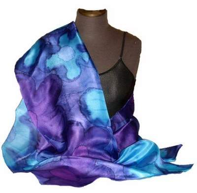 Violet Blue Silk Wrap