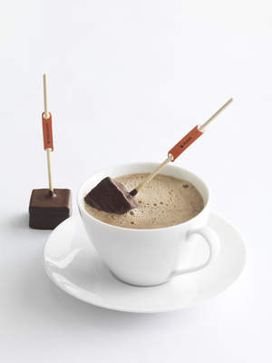 Petrossian's Hot Chocolate-On-A-Stick