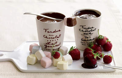 Petrossian Chocolate Fondue Pots