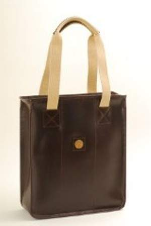 3 Bottle Leather Wine Tote