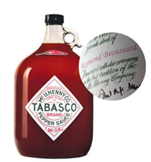 Tabasco Personalized Gallon Jug on GiftGenius.com