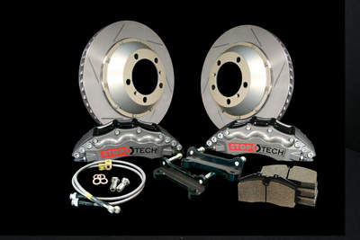 The Big Brake Kit from StopTech provides shorter stopping distances for impoved safety on the road or performance on the track