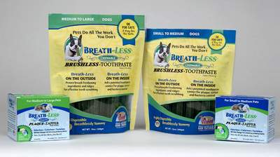 Ark Naturals BREATH-Less Chewable Brushless-Toothpaste and BREATH-Less Fizzy Plaque-Zapper