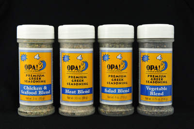 Opa! Seasonings salad, vegetable, meat and chicken/seafood blends