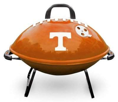 Football-shaped Tailgating Grill