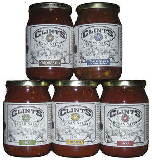 Enjoy award winning Clint's Texas Salsa