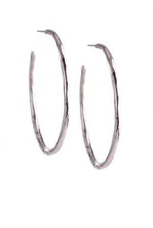 Ippolita Hammered Silver Hoops