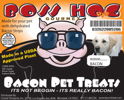 Boss Hog Bad To the Bone Bacon Pet Treats
