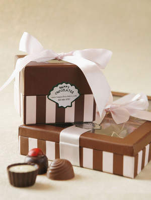 HAPPY CHOCOLATES -large and small gift boxes