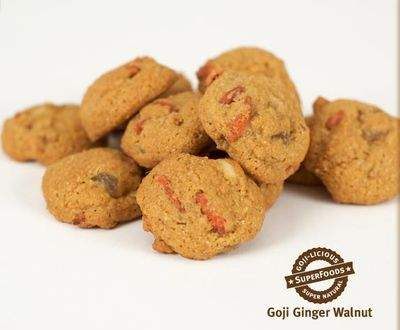 Goji Ginger Walnut cookies