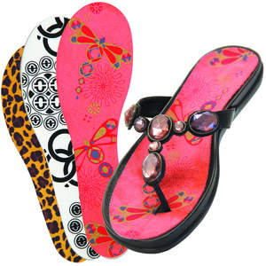 Sandals with Summer Sole Insert