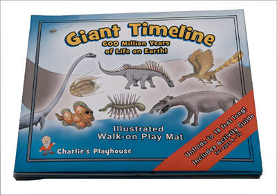 Giant Evolution Timeline Play Mat