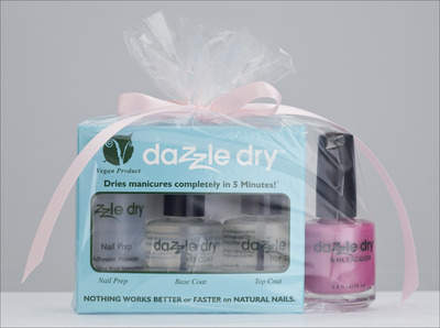 Dazzle Dry Quick Dry Nail Polish Kit with Warm Affection Nail Polish