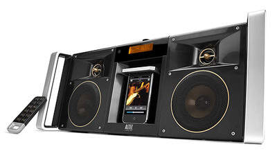 XdB bass-enhanced side-firing subwoofer and tuned passive radiator deliver formidable bass.