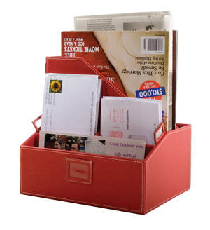 Kangaroom Storage Mail Sorter in Red