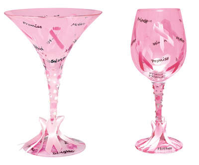 Pink Ribbon Glasses