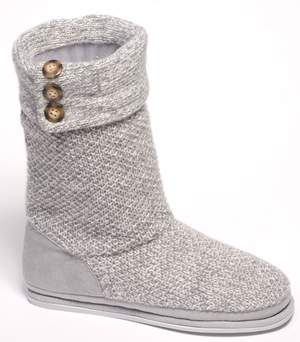 Dearfoams sweater-knit slouch boot