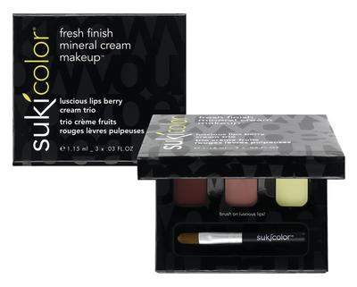 sukicolor luscious berry holiday lip trio