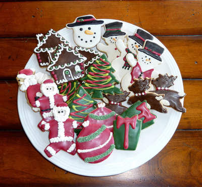 Just a few of the delectable holiday cookies offered by Beautiful Sweets Organic Bakery.