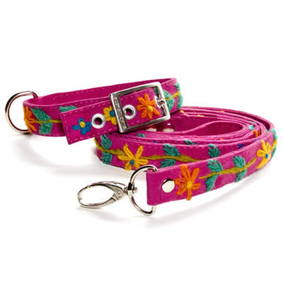 Handmade Dog Collar & Leash