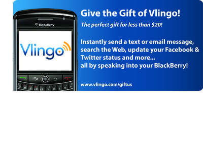 Vlingo enables customers to simply speak to their phone to create and send a text or email message, search the web, update their Facebook status and more.