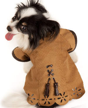 GLOBAL DOG DESIGNS ITALY Eyelet Suede Jacket