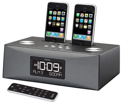 One simple docking station for the multiple iPhones & iPods in your home.