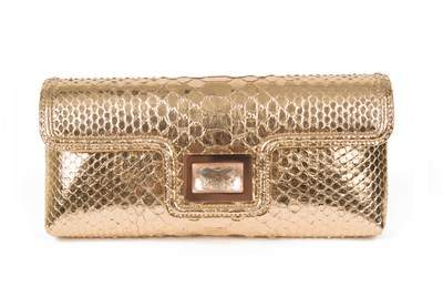 Kara Ross NY Python Rose Gold Clutch