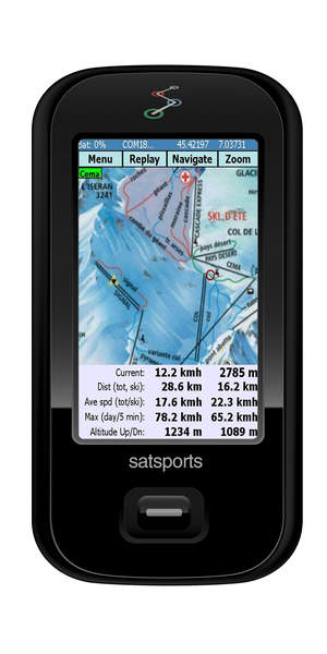 Satski Application on Satsports GPS