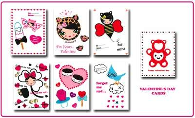 MILK AND HONEY VALENTINE'S DAY CARDS