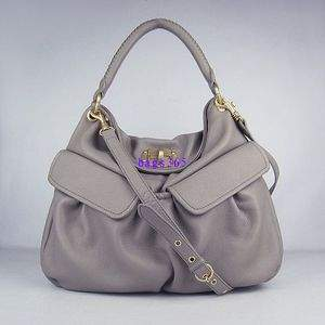 HOT MIU MIU Flapper Toto in gray handbag
