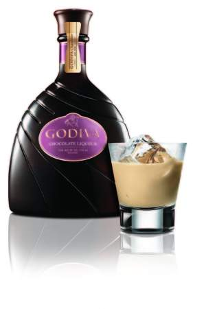 Godiva Chocolate Liqueur on the rocks