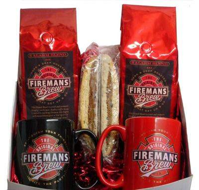 Fireman's Brew Holiday Coffee Basket