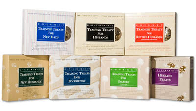 The Training Treats line includes Husbands, New Husbands, New Dads, Boyfriends, Retired Husbands, Golfers, and Husband Treats.