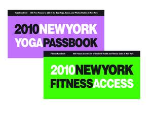 The Fitness and Yoga PassBooks Include 600 Free Passes