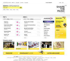 Share the Music service