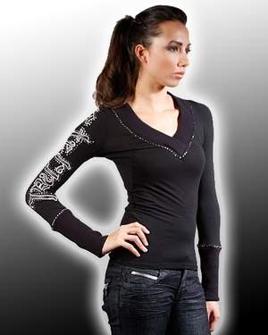 Women's Eternal Leather Sleeve Front