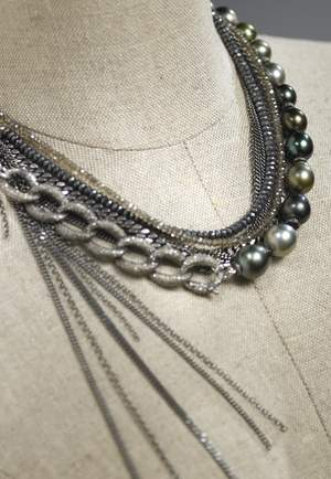 Deux Filles Statement Necklace can be worn several ways to make a statement.
